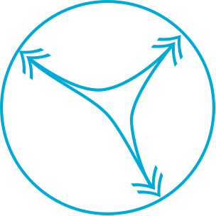 Symbol of a belly flexibility for horse rug