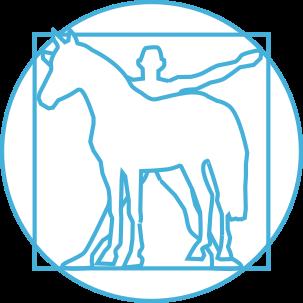 Ergonomic symbol with horse and human
