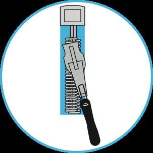 Symbol of a good zipper for horse rug